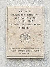 Grundungsversammlung Des Deutschen Fussball Bunds Wikipedia