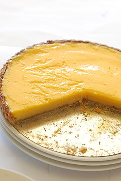 Lemon curd tart with crumbs, 2008.jpg