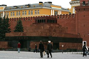 The Lenin Mausoleum at Red Square, Moscow.