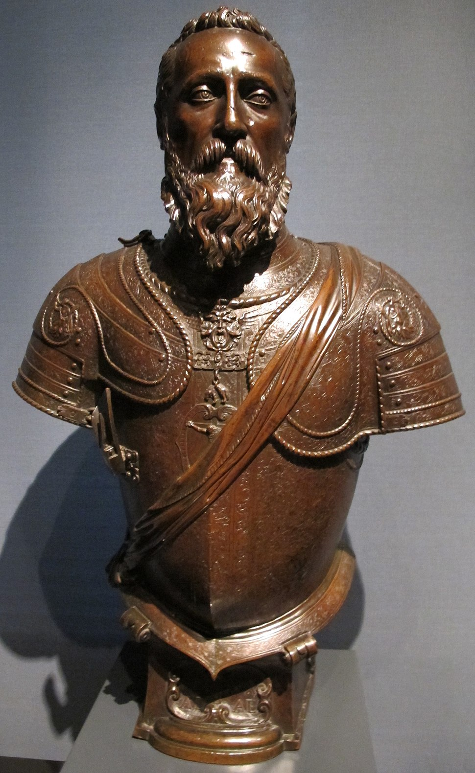 Leone leoni, don ferdinando alvarez de toledo, 3° duca d'alba, 1554-1556