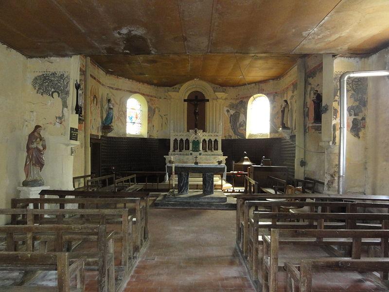 Les Autels (Aisne) église, intérieur, nef