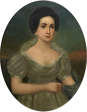 Letitia Christian Tyler - Tyler's White House Portrait (1842)