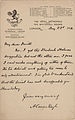 Letter from Arthur Conan Doyle to Herbert Greenhough Smith 1912.jpg