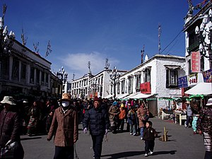 Lhasa main street