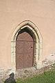 Licoměřice - Kostel svaté Kateřiny vstupní portál.JPG