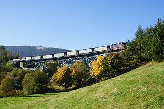 Fichtelberg railway narrow track gauge railway in Saxony, Germany