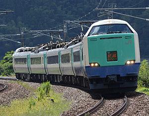 Hokuetsu - A 485-3000 series EMU on a Hokuetsu service, September 2014