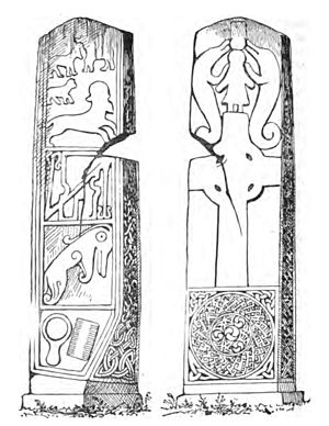 Maiden Stone - 19th century drawing