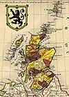 Carte administrative de l'Écosse en 1843
