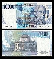 Lire 10000 Alessandro Volta Jpg