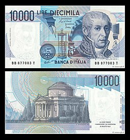 Lire 10000 (Alessandro Volta)