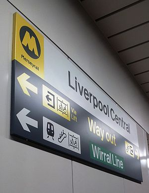Liverpool Central railway station - Liverpool Central Sign