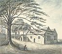 Llan-san-shore, or, Church of St. George and rectory, 1794.jpg