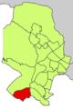 Localització de Sant Agustí respecte del Districte de Ponent.png