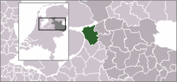 Location of Kampen in Overijssel
