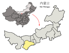 Location of Ordos Prefecture within Inner Mongolia (China).png