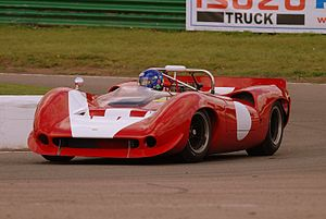 Mallory Park - A Lola T70 Spyder sports car, on test at Mallory Park, October 2007