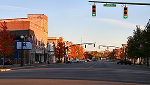 National Register of Historic Places listings in Madison County, Ohio - Image: London ohio downtown
