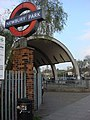 London Underground roundel at Newbury Park - geograph.org.uk - 1252426.jpg