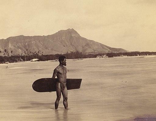 Lone Alaia board surfer