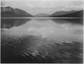 "Looking across lake, ""McDonald Lake, Glacier National Park,"" Montana., 1933 - 1942 - NARA - 519873.tif"