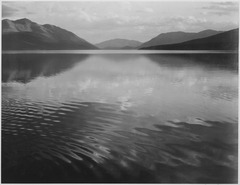 "Looking across lake, ""McDonald Lake, Glacier National Park,"" Montana., 1933 - 1942 - NARA - 519873.tif"