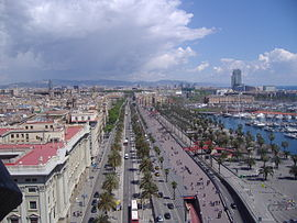 Looking east along Passeig de Colom.JPG