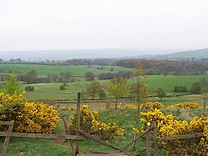 English: Looking towards Menston and Burley in...