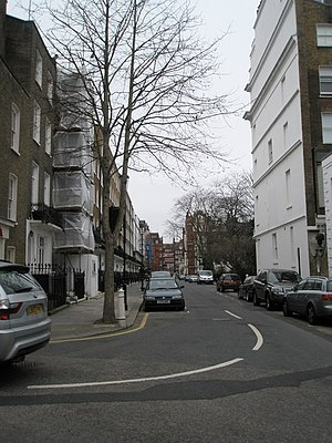 Cadogan Place - Looking westwards along Cadogan Place