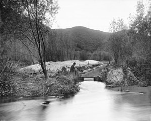 Griffith Park - Los Angeles River at Griffith Park, ca.1898-1910