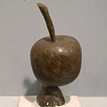 Lost Wax-Model of apple in wax.jpg