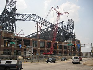 Lucas Oil Stadium - Image: Lucas Oil Stadium 080207
