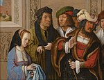 Lucas van Leyden - Potiphar's Wife Displays Joseph's Garment - Google Art Project.jpg