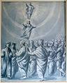 Luigi alamanni (attr.), cielo delle stelle fisse (par. VIII), MP 75, c. 91r, spiriti trionfanti, incoronazione di maria.JPG