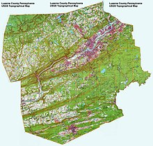 Luzerne County, Pennsylvania USGS Topographical Map.jpg