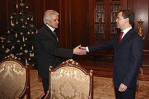 Volodymyr Lytvyn - Lytvyn meeting with Russian President Dmitry Medvedev in December 2008.