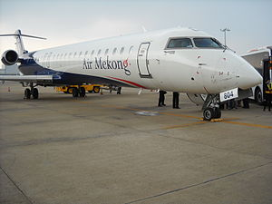 Air Mekong - A Bombardier CRJ900 in Air Mekong's livery at Tan Son Nhat International Airport.