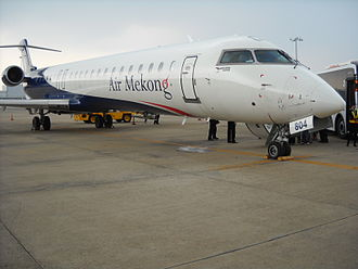 Air Mekong - A Bombardier CRJ900 in Air Mekong's livery at Tan Son Nhat International Airport.