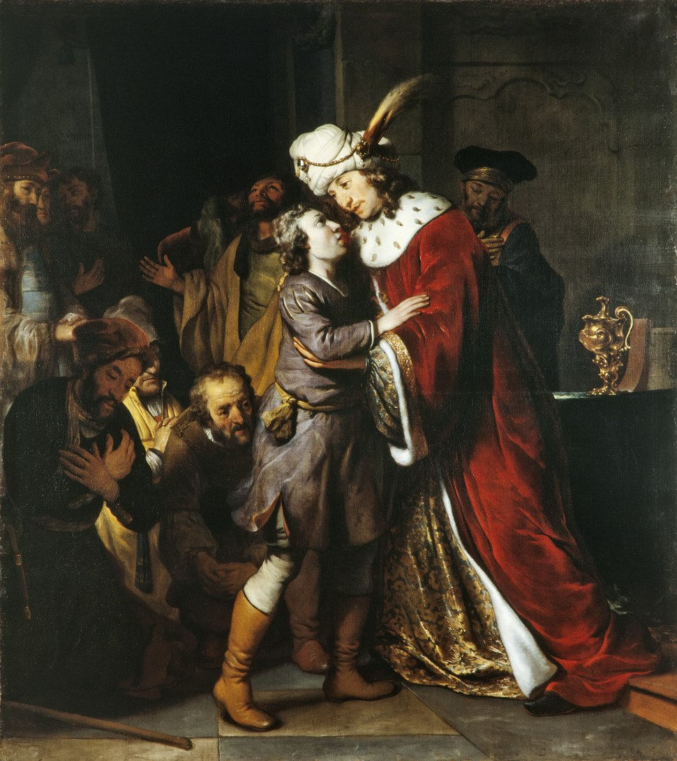 """Målning från 1657 föreställande """"Josef och hans bröder"""" - Skoklosters slott - 64697"""
