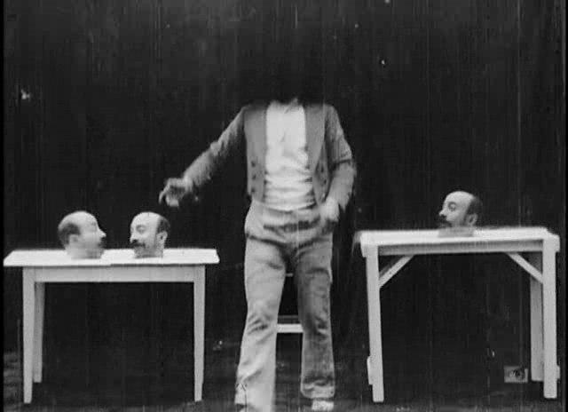 Méliès, Un homme de têtes (Star Film 167 1898)