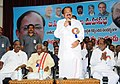 M. Venkaiah Naidu addressing the gathering at the Abhinandana Sabha for establishing new National Commission for Backward Classes as a constitutional body, in Hyderabad.jpg