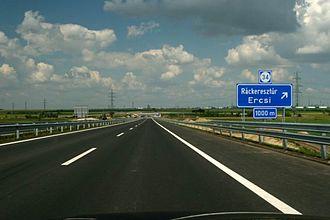 M6 motorway (Hungary) - M6 near Ráckeresztúr