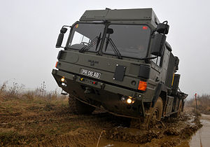 158 Regiment RLC - A MAN 6 Tonne vehicle of 158 Transport Regiment