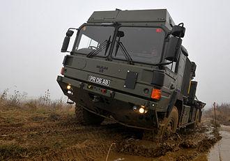 158 Regiment RLC - A MAN 6 Tonne vehicle of 158 Transport Regiment