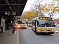 MBTA route 238, 222P, and 216 buses at Quincy Center, October 2015.JPG