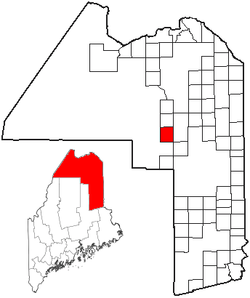 Location of Garfield Plantation, Maine