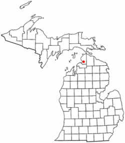 Location of Bear Creek Township in Michigan