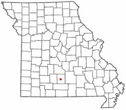 Location of Hartville, Missouri