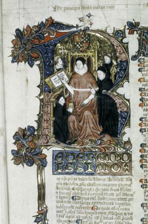Thomas Arundel - Image: MS Laud Misc 165 fol 5