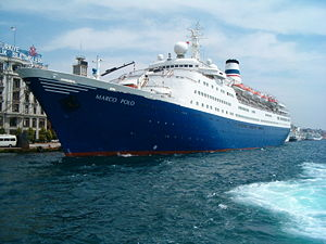 MS Marco Polo - MS Marco Polo in Istanbul in Orient Lines colours, 2003.